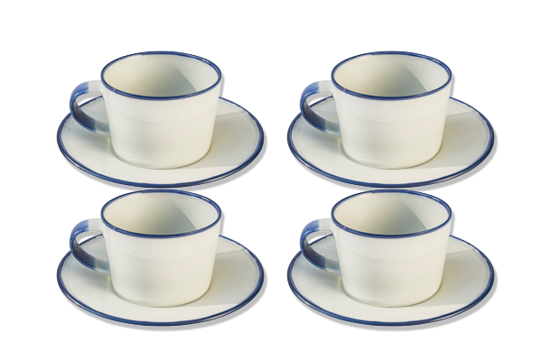 Kaffekoppar med fat, Ovanåker 4-p